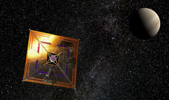 הצלחה ראשונה למפרש שמש חללי - מסע בין כוכבי לכת. הדמיה של החללית איקרוס בחלל | מקור: ויקיפדיה, Andrzej Mirecki