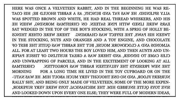 """תחילתו של סיפור הילדים הקלאסי """"ארנב הקטיפה"""" מאת מרג'רי ויליאמס: הזדמנות לתרגל את כישוריכם הבוסטרופידוניים באנגלית"""