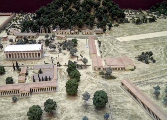 Modell des antiken Olympia im Britischen Museum | Foto: aus Wikipedia