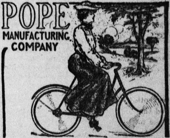 An ad for a women's bicycle in an American newsletter in 1904 | Wikipedia, public domain