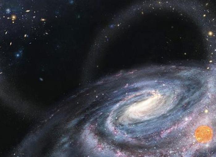 נוצר בסביבה שונה מבחינה כימית. תהליך הספיחה של כוכב מגלקסיה ננסית | איור: Chinese National Astronomy