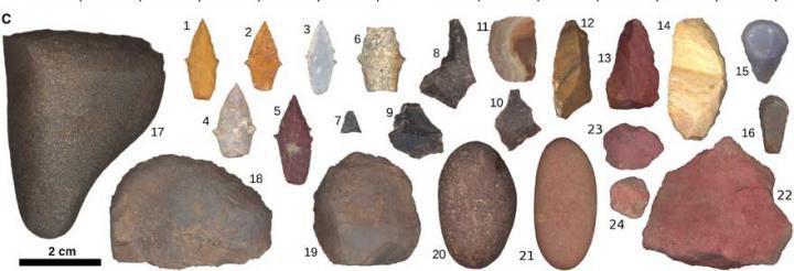 כלי האבן מקבר הציידת הצעירה | צילום: Randy Haas/UC Davis