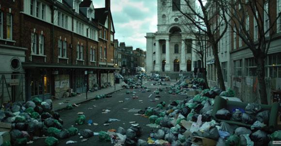 רחובות ריקים. תמונה מתוך הסרט