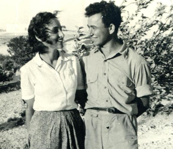 טוביה קושניר ואביבה גינצבורג | מקור: יד למורשת חיים הזז