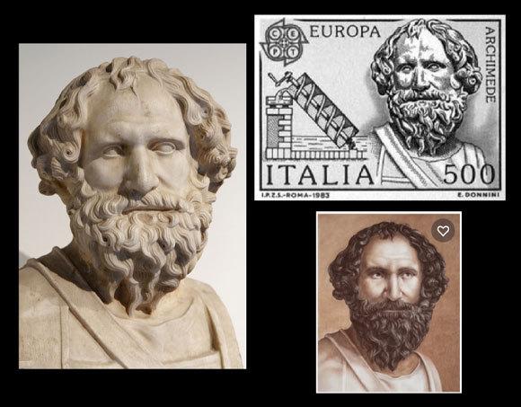 בול איטלקי עם הדיוקן | מקורות: המוזיאון הארכיאולוגי הלאומי של נאפולי, נחלת הכלל; A.Sich, Shutterstock