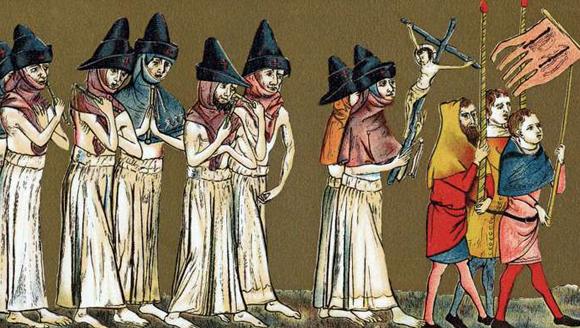 ציור מיומנו של ראש המנזר, ז'יל לי מיוזי | מקור: הספרייה המלכותית, בריסל
