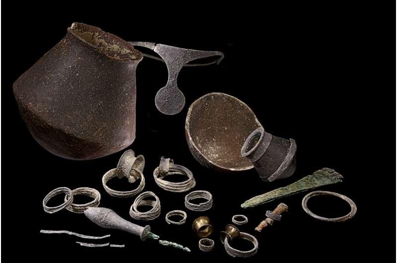 חלק מהחפצים שנמצאו באתר הקבורה, קרדיט: Credit: Grup ASOME-UAB