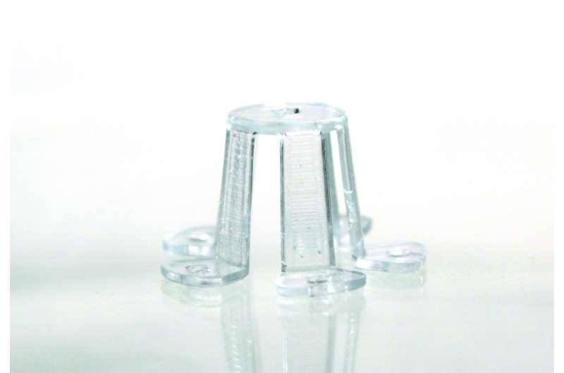 מבנה מורכב מזכוכית שפותח באמצעות השיטה, קרדיט: Credit: Glassomer GmbH