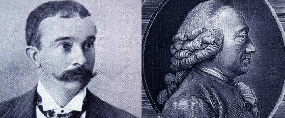 שרל בונה (מימין) היה הראשון שהחל בתצפיות שיטתיות על פיזורי עלים. אנדראס שימפר פתח במחקר תיאורטי בתחום | wikipedia, Paul venter, Natural History Museum, London, Science Photo Library