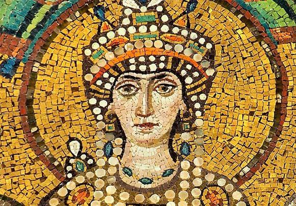חולת סרטן השד המפורסמת של שלהי העת העתיקה | פסיפס מהבזיליקה של סן ויטלה; צילום: פטאר מילוסביץ', ויקיפדיה