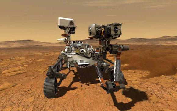 הדמיה של רכב המאדים Perseverence על כוכב הלכת האדום | מקור: NASA/JPL-Caltech