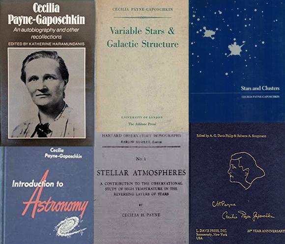מחקרים שהפכו לאבני יסוד בתחום האסטרונומיה. כמה מספריה של ססיליה פיין-גפושקין