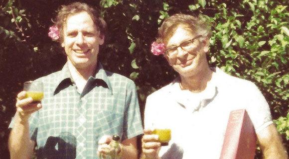 כהנמן (מימין) וטברסקי בשנות ה-70   מקור: ברברה טברסקי