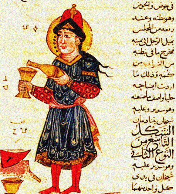 מכונה למזיגה אוטמטית של יין. עותק מ - 1315, סוריה. מקור: ויקפדיה