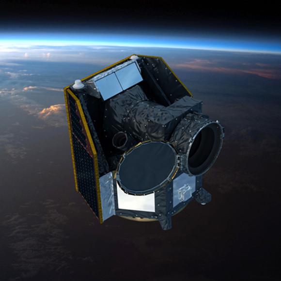 הדמיה של טלסקופ החלל במסלולו (איור: סוכנות החלל האירופית, ESA)