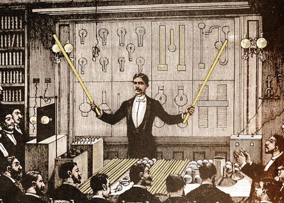 טסלה מציג את יתרונות זרם החילופין | מקור: SCIENCE SOURCE / SCIENCE PHOTO LIBRARY