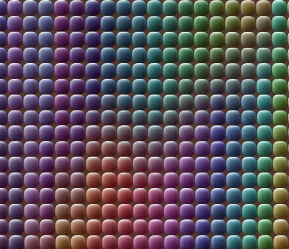 צילום מיקרוסקופי של הפיקסלים בחיישן CCD עם פילטרים צבעוניים | מקור: POWER AND SYRED / SCIENCE PHOTO LIBRARY