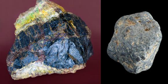 מחצבים עשירים באורניום (משמאל) ותוריום. חומרים יחסית זולים, אבל בפיקוח הדוק | צילומים: Science Photo Library