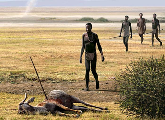 השאלה הגדולה: היכן באפריקה הופיעו לראשונה בני האדם המודרניים. אדם קדמון במזרח היבשת | איור: Science Photo Library