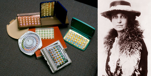 Katharine McCormick and a variety of birth control pills | Source: Tony Freeman / US National Archives And Records Administration / Science Photo Library