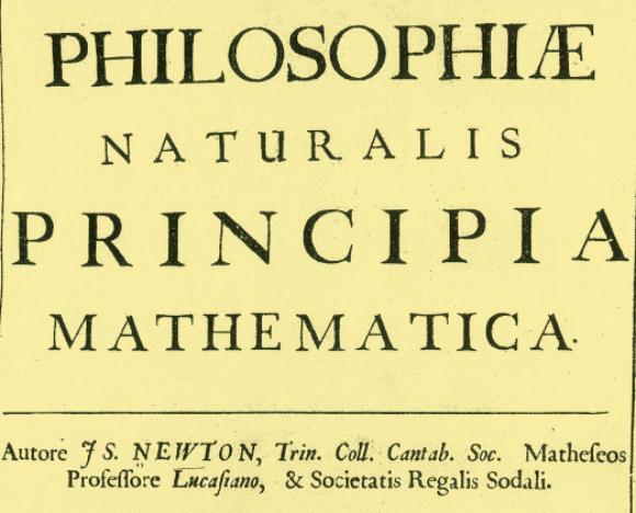"""אחד מספרי היסוד של המדע המודני. כריכת ה""""פרינקיפיה""""   מקור: NYPL / SCIENCE SOURCE / SCIENCE PHOTO LIBRARY"""