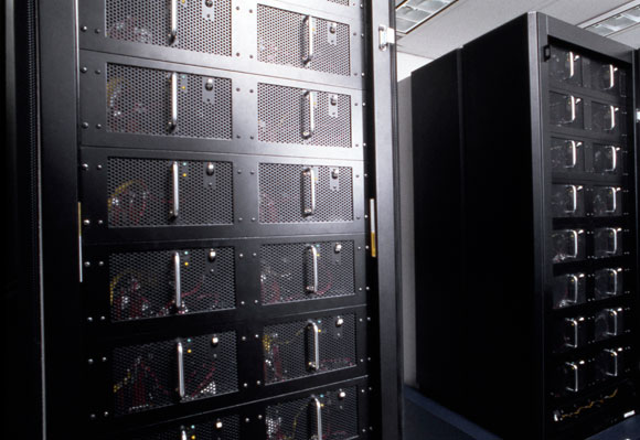 המחשב כחול עמוק