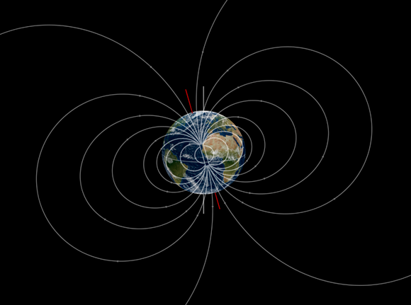 השדה המגנטי של כדור הארץ | איור: Mikkel Juul Jensen / Science Photo Library