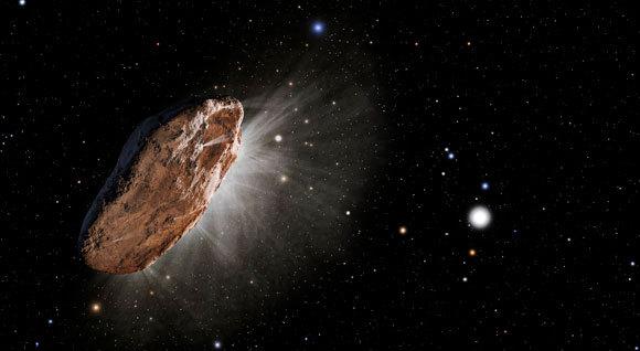 איור של אומואמואה | מקור: NASA / ESA / STSCI / SCIENCE PHOTO LIBRARY