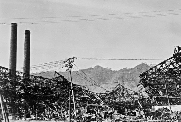 נזקי הפצצה הגרעינית בנגסקי, שלוש שנים לאחר מכן | מקור: US NATIONAL ARCHIVES AND RECORDS ADMINISTRATION / SCIENCE PHOTO LIBRARY