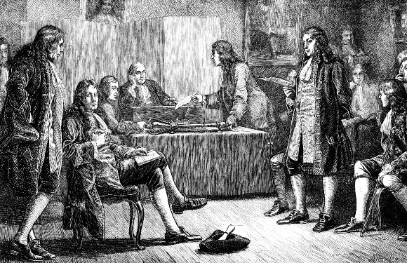 ניוטון בכס הנשיא של החברה המלכותית הבריטית | מקור: OXFORD SCIENCE ARCHIVE / HERITAGE IMAGES / SCIENCE PHOTO LIBRARY