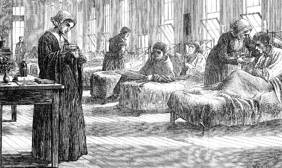 בית חולים לחולי אבעבועות שחורות בלונדון, 1871 | מקור: OXFORD SCIENCE ARCHIVE / HERITAGE IMAGES / SCIENCE PHOTO LIBRARY