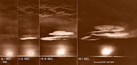 הפיצוץ הגרעיני הראשון | צילום: המעבדה הלאומית לוס אלמוס, Science Photo Library