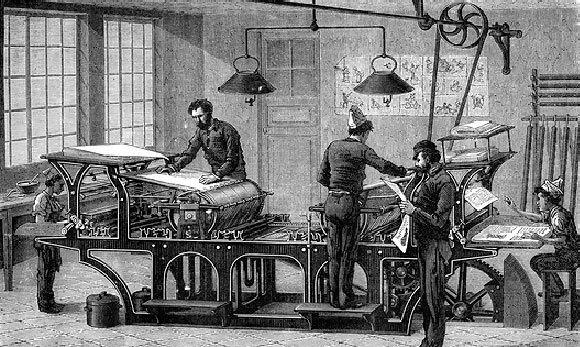 מכבש דפוס של עיתון מהמאה ה-19 | Collection Abecasis, Science Photo Library