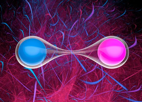 פוטונים שזורים קוונטית | איור: LAGUNA DESIGN / SCIENCE PHOTO LIBRARY
