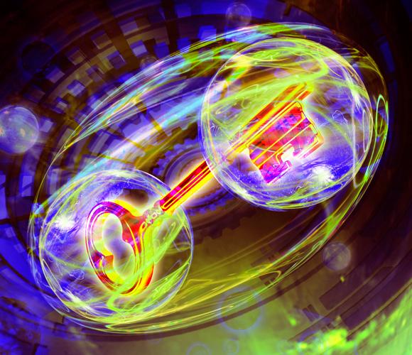 לשכפל את מפתחות הקסמים באמצעות שזירה קוונטית | איור: HARALD RITSCH / SCIENCE PHOTO LIBRARY