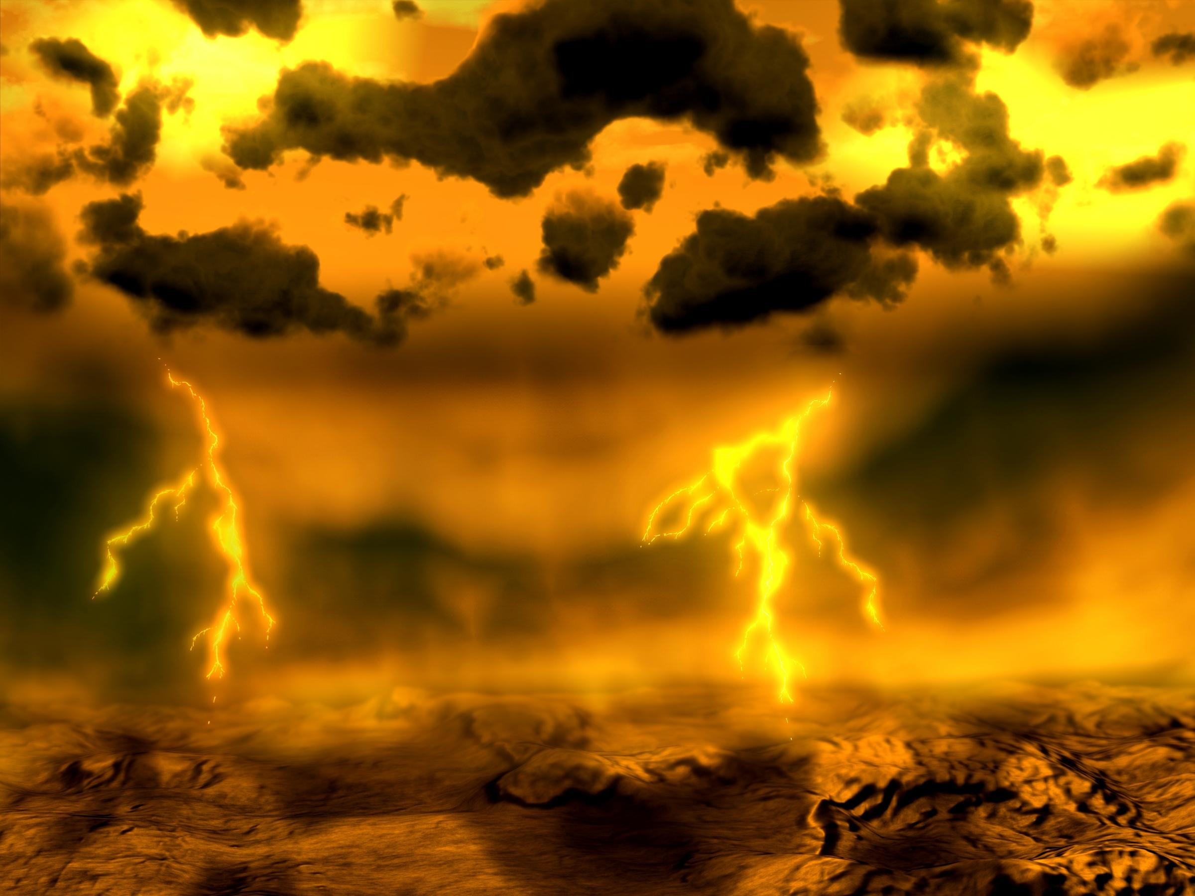 אילוסטרציה של ברקים בנגה | spl