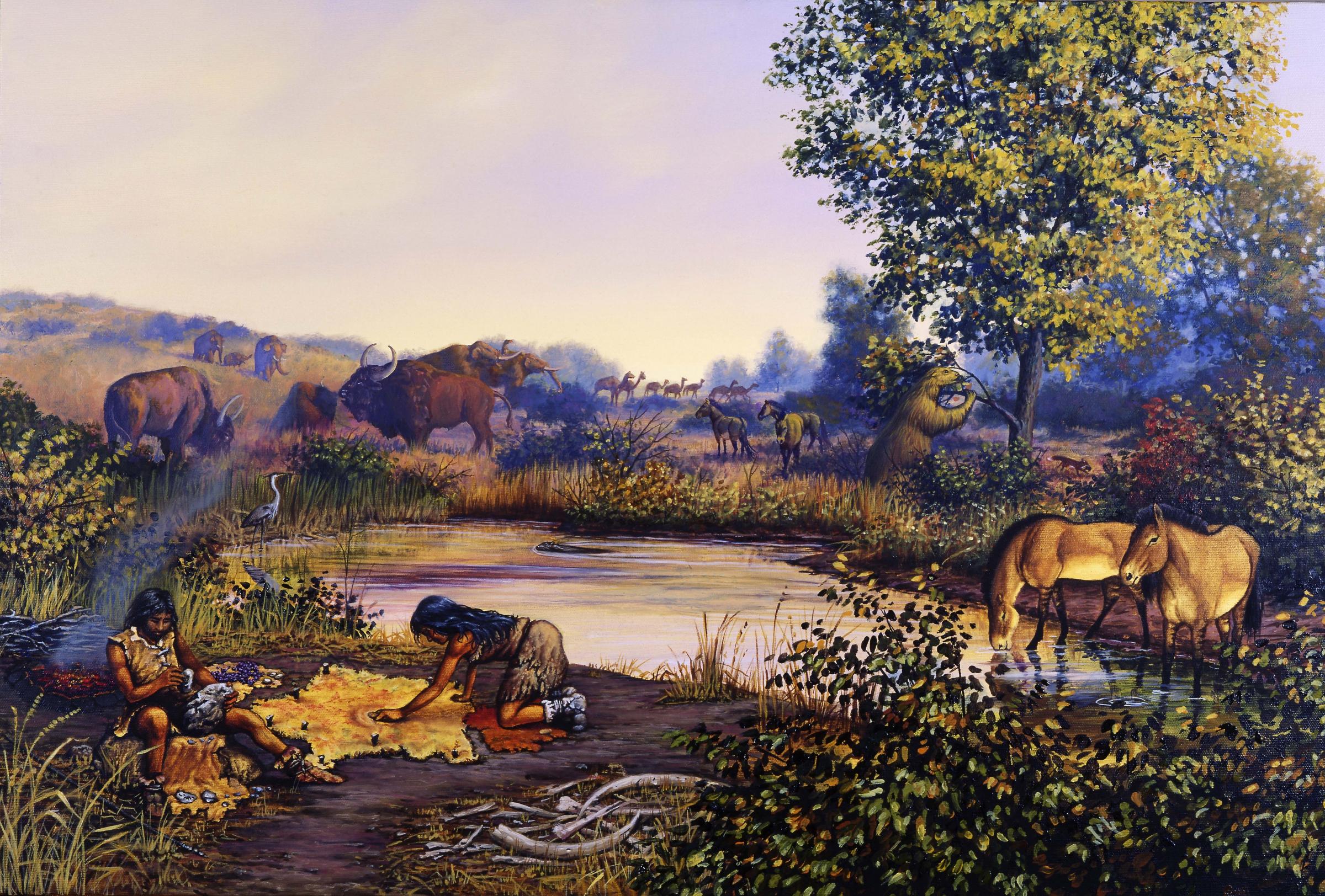 חיים בתקופת הפליסטוקן המאוחרת, קרדיט: CHASE STUDIO / Science Photo Library
