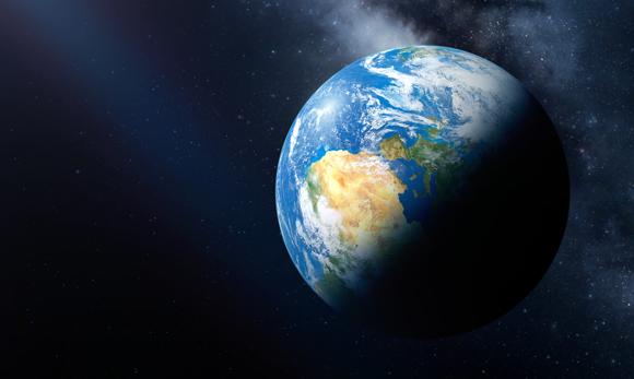 Die Erde, vom Weltall gesehen. Quelle: Detlev van Ravensway, Science Photo Library