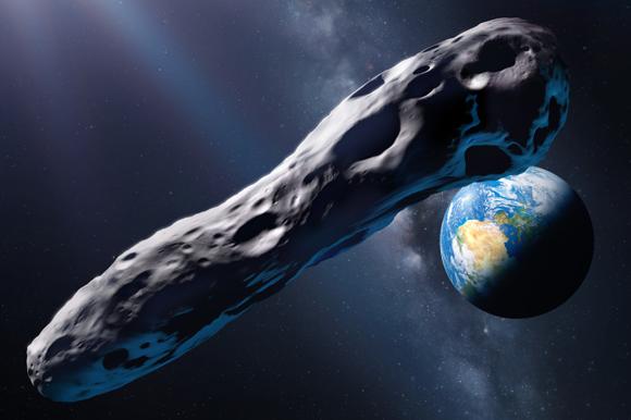 אומואמואה על רקע כדור הארץ | הדמיה: DETLEV VAN RAVENSWAAY / SCIENCE PHOTO LIBRARY