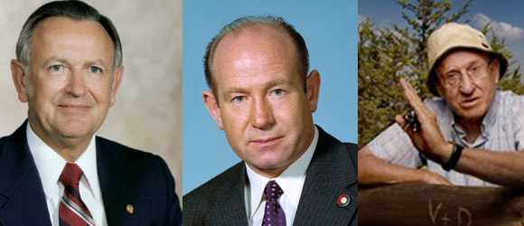 אהרון רזין (מימין), אלכסיי ליאונוב (במרכז) וכריס קראפט | צילומים: פרס אמת, ויקיפדיה, נחלת הכלל