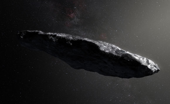 אין בינתיים ראיות לפעילות תבונית של חוצנים. Oumuamua | איור: מצפה הכוכבים האירופי הדרומי, ESO