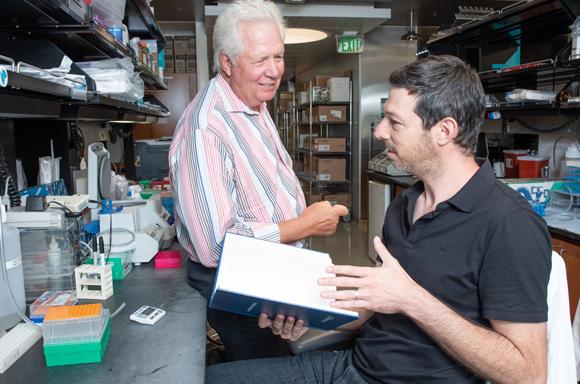ורנר גרין (משמאל) ואיתן הרציג | צילום: Gladstone Institutes
