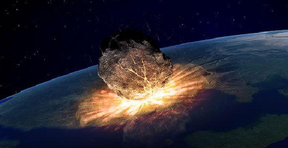 אסטרואיד פוגע בכדור הארץ | איור: Andrzej Wojcicki / Science Photo Library