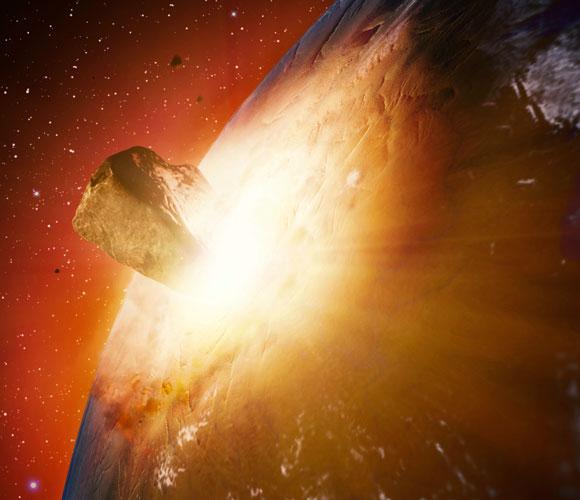 אסטרואיד פוגע בכדור הארץ