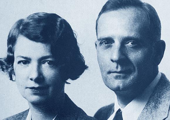 אחד הזוגות החזקים והמפורסמים. אדווין האבל ורעייתו גרייס (ברק) | צילום: San Marino Tribune