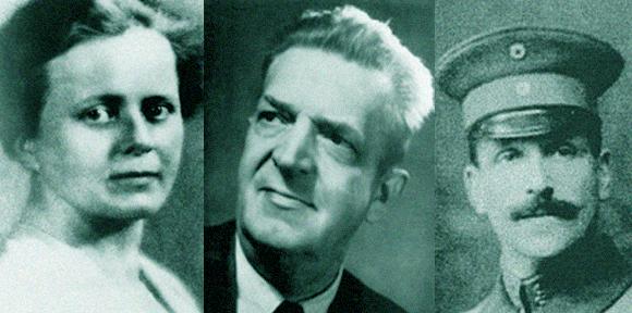 גילו את היסוד האחרון שאינו רדיואקטיבי - רניום. אוטו ברג (מימין), ולטר ואידה נודאק | מקור: ויקיפדיה, Science Photo Library