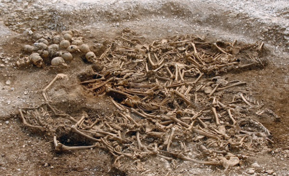 קבר אחים של עשרות ויקינגים כרותי ראש בדורסט, אנגליה | צילום: Dorset County Council/Oxford Archaeology