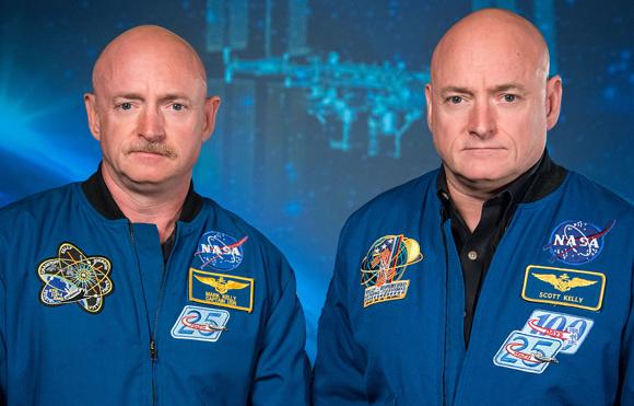 התאומים האסטרונאוטים מארק וסקוט קלי | NASA