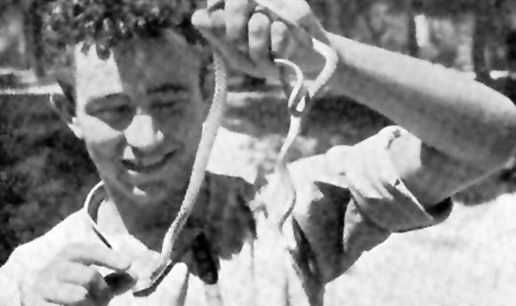 קושניר ונחש, בשנת לימודיו הראשונה באוניברסיטה העברית | מקור: ארכיון עיריית פתח תקווה
