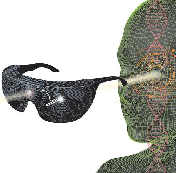 אילוסטרציה של השימוש במשקפיים | Veronique Juvin, SciArtWork